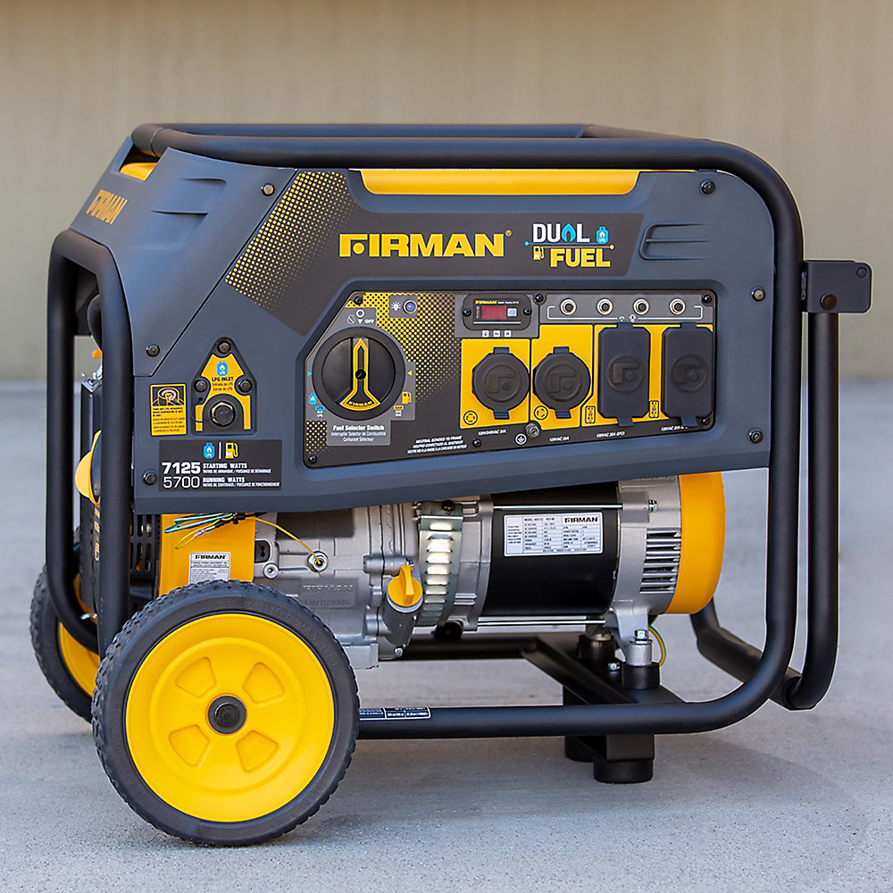 7125/5700W 120/240V Recoil Start Gas or Propane Dual Fuel Portable Generator cETL Certified