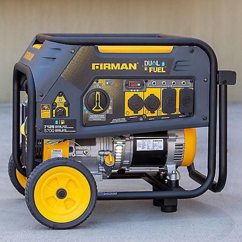 7125/5700 watts 120/240V Génératrice portative essence/propane certifiée cETL