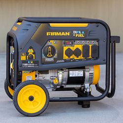 FIRMAN 7125/5700W 120/240V Recoil Start Gas or Propane Dual Fuel Portable Generator cETL Certified