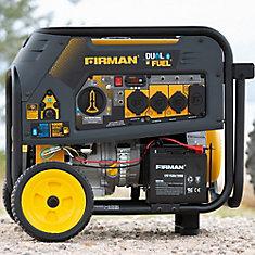 10000/8000 Watt 120/240V 30/50A Electric Start Gas or Propane Dual Fuel  Portable Generator cTEL Certified