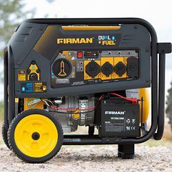 FIRMAN 10000/8000 watts 120/240V 30 / 50A Génératrice portative essence/propane à démarrage électrique certifiée cTEL