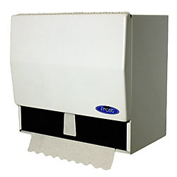 Frost Universal Roll And Single Fold Steel Paper Towel Dispenser White Finish
