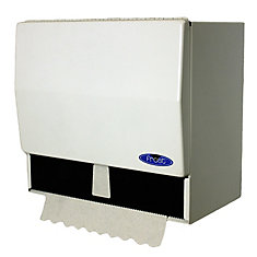 Universal Roll And Single Fold Steel Paper Towel Dispenser White Finish