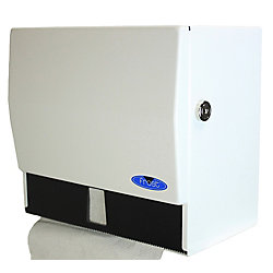 Frost Universal Roll And Single Fold Steel Paper Towel Dispenser White Finish With Lock