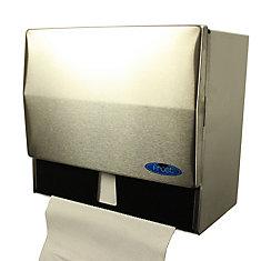Distributeurs d'essuie-mains à plis simples ou en rouleau acier inoxydable