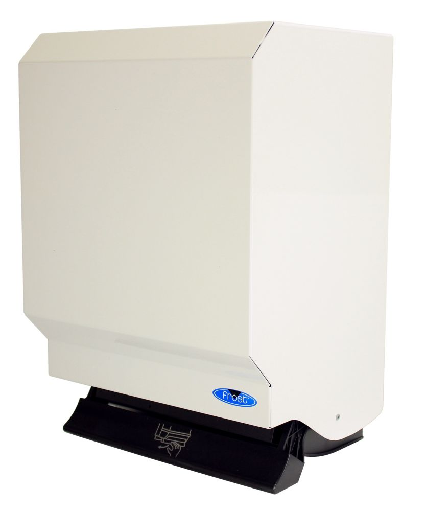 Frost Control Roll Paper Towel Dispenser, Steel,White Finish