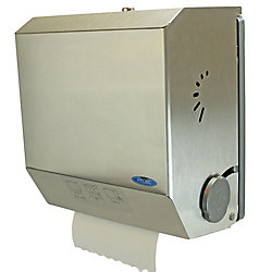 Frost Hands Free Mechanical Paper Towel Dispenser, Stainless Steel