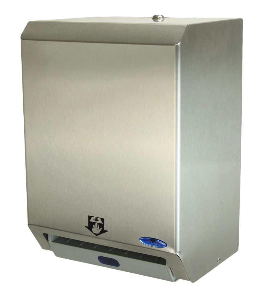Hands Free Paper Towel Dispenser, Stainless Steel
