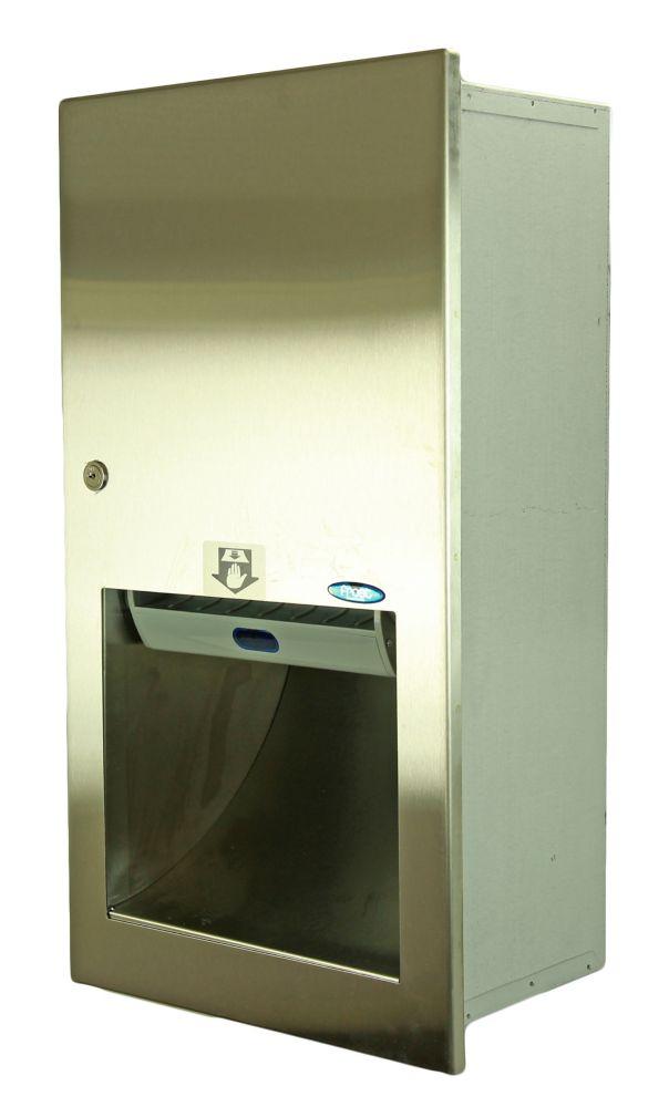Hands Free Semi-Recessed Paper Towel Dispenser