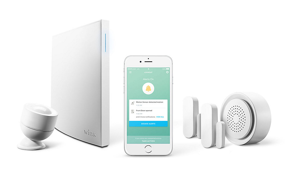Lookout Security Kit with Smart Home Hub 2, Motion Sensor, 2 Window/Door  Sensors, & Chime