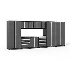 Pro 3.0 Series 10-Piece Garage Cabinet Set in Grey