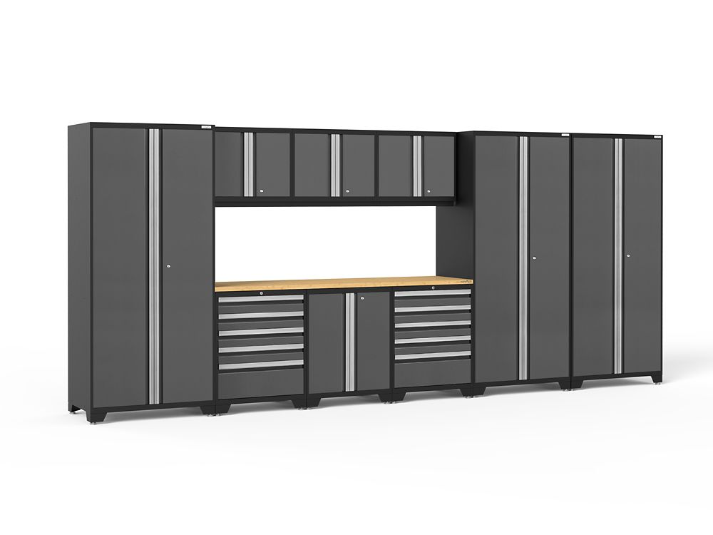 NewAge Products Pro 3.0 Storage Cabinets in Grey (12-Piece Set)