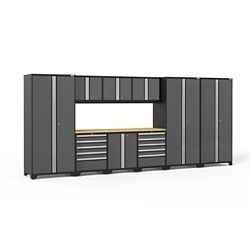 NewAge Products Inc. Pro 3.0 Storage Cabinets in Grey (12-Piece Set)