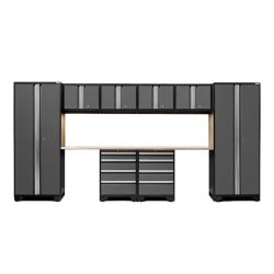 NewAge Products Inc. Bold 3.0 Grey Garage Cabinet Set (10-Piece)