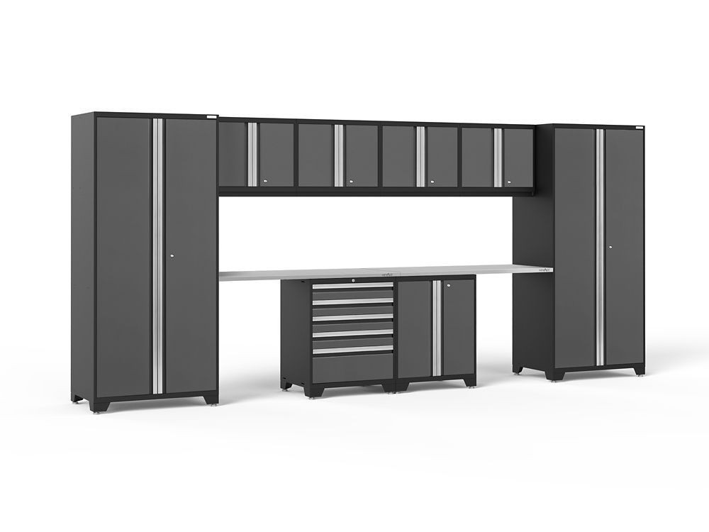 NewAge Products Pro 3.0 Storage Cabinets in Grey (10-Piece Set)