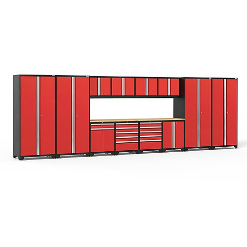 NewAge Products Inc. Pro Series 14-Piece Garage Cabinet Set in Red