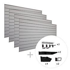 Track Wall 128 sq. Feet (16 Feet x 8 Feet) & 38-Piece Accessory Kit 'Max' Bundle