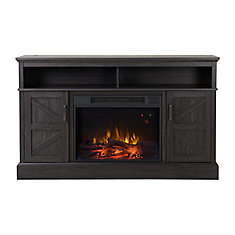 Aspen Media Fireplace in Gambrel Weathered Oak