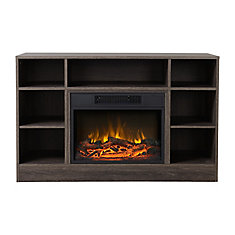Oakley Media Fireplace in Weathered Black Brown Oak