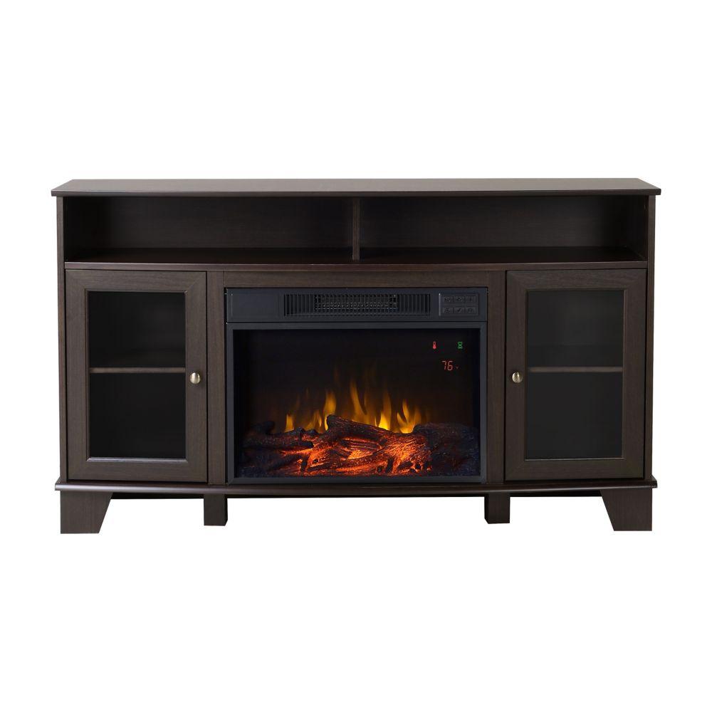 Flamelux Wilson Media Fireplace in Cacao Modern Oak