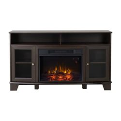 Flamelux Wilson Media Fireplace in Cacao Modern Oak