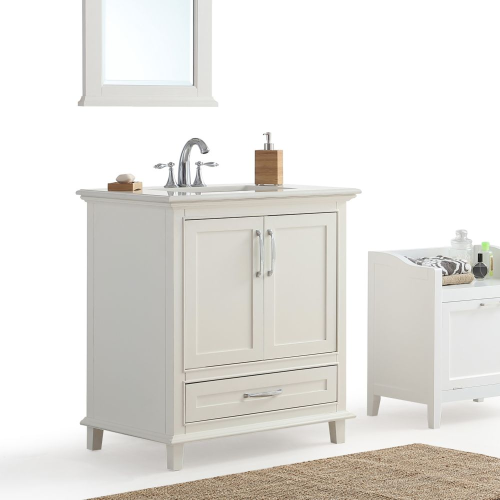 Glacier Bay Bethany 30 Inch 2 Drawer Vanity With Vitreous