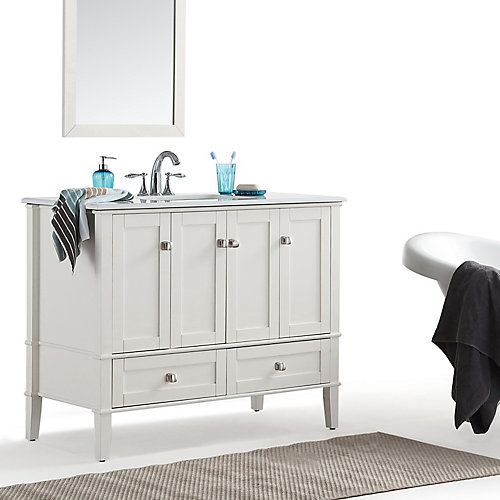 Chelsea 42-inch Bath Vanity with White Quartz Marble Top