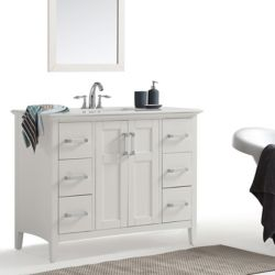 Simpli Home Winston 42-inch Bath Vanity with Quartz Marble Top