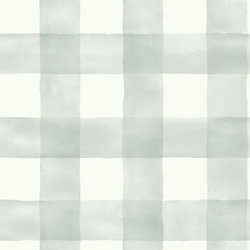 Joanna Gaines Magnolia Home 56 sq. ft water colour Check Gray Background Removable Wallpaper