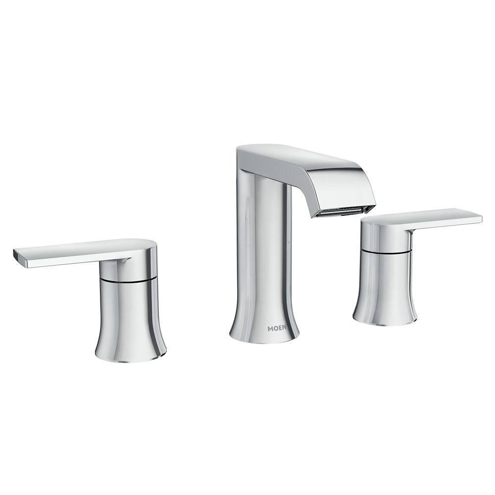 Genta 2 Handle Widespread Bathroom Faucet In Chrome Finish