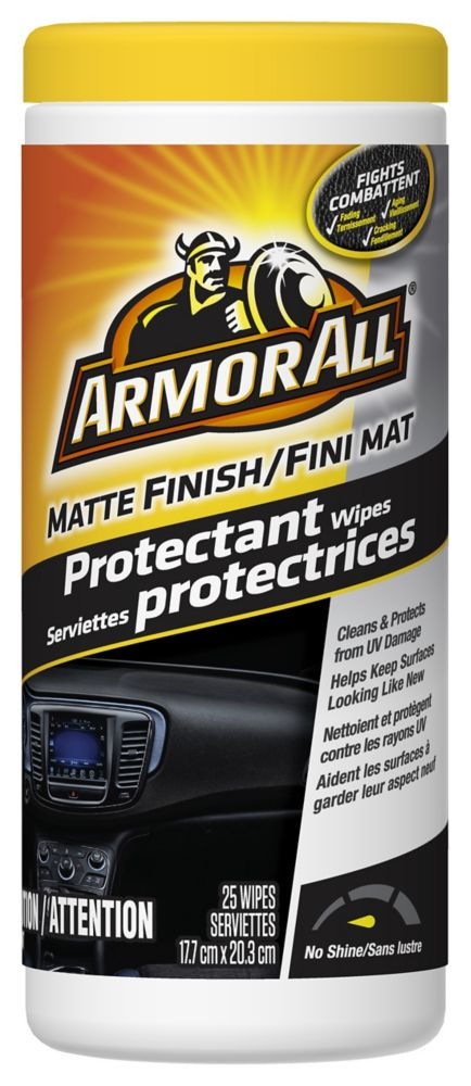 Armor All Matte Finish Protectant Wipes 25ct.