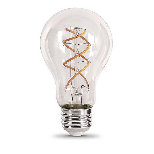 Feit Electric 6.5-Watt Soft White (2150K) AT19 Dimmable LED Clear Vintage Style Light Bulb