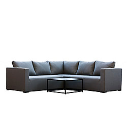 Patio Plus South Beach 3-Piece Aluminum Outdoor Sectional Seating Set