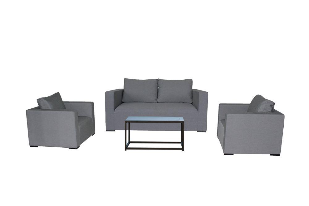 Patio Plus South Beach 4-Piece Aluminum Outdoor Lounge Set