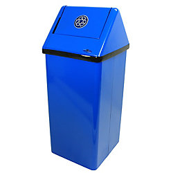 Frost Waste Receptacle/Recycling Blue Finish