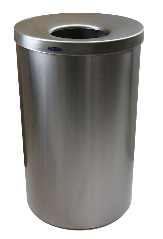 Frost Jumbo Lobby Waste Receptacle Stainless Steel