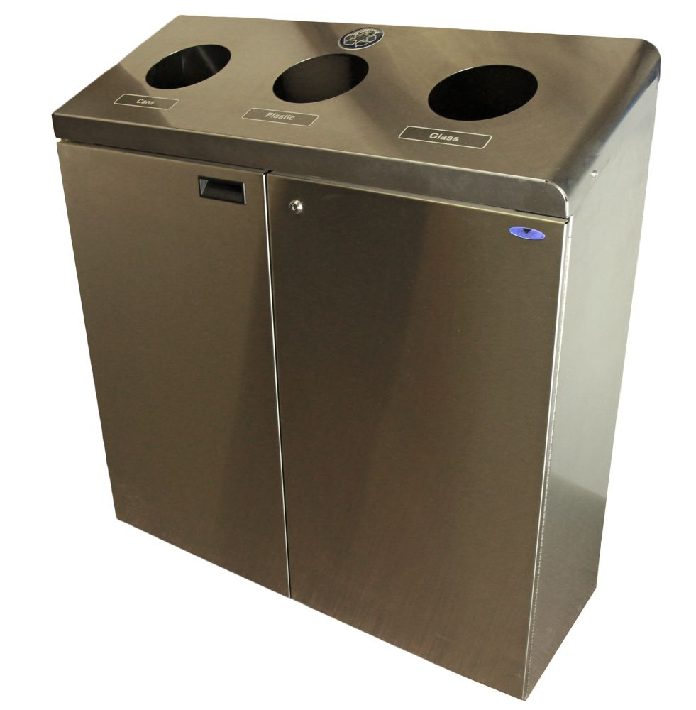 Frost Large Wall Mounted Waste Receptacle Stainless Steel