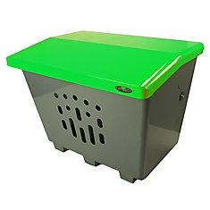 Steel Sand/Salt/Storage Bin Green/Grey Finish