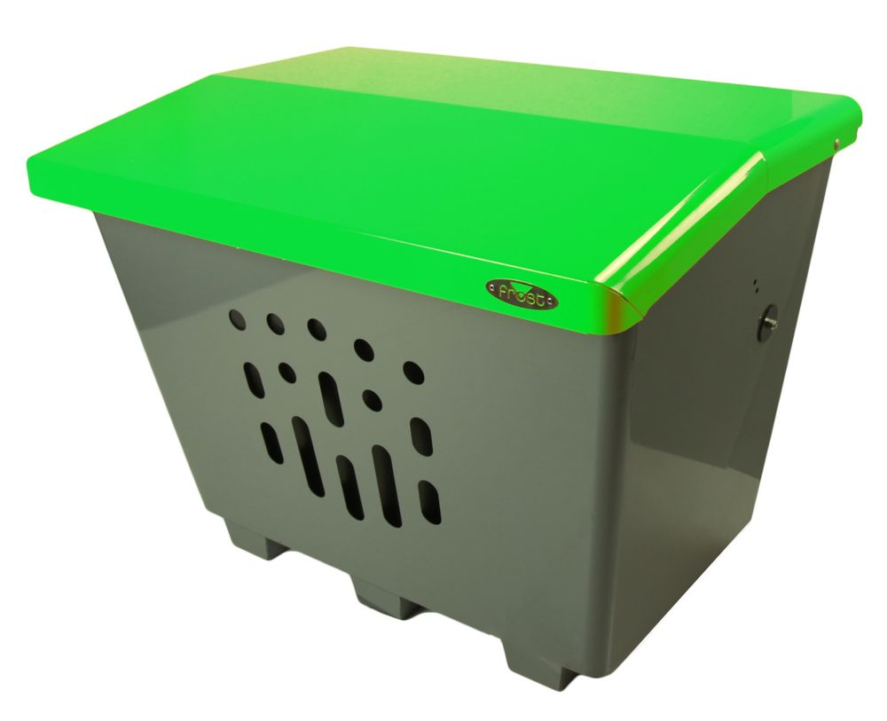 Frost Steel Sand/Salt/Storage Bin Green/Grey Finish