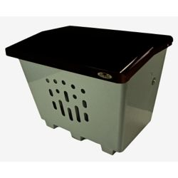 Frost Steel Sand/Salt/Storage Bin Black/Grey Finish