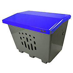 Steel Sand/Salt/Storage Bin Blue/Grey Finish
