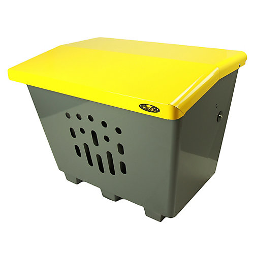 Steel Sand/Salt/Storage Bin Yellow/Grey Finish