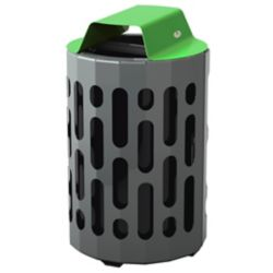 Frost Steel Outdoor Waste Receptacle Green/Grey Finish