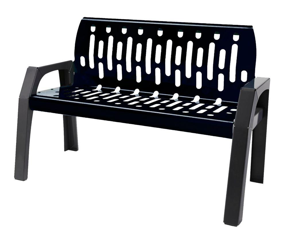 Frost Steel 4 Feet Outdoor Bench Black/Grey Finish