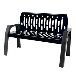 Frost Steel 4 Feet Outdoor Bench Black/Grey Finish
