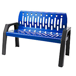 Frost Steel 4 Feet Outdoor Bench Blue/Grey Finish
