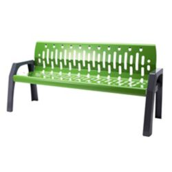 Frost Steel 6 Feet Outdoor Bench Green/Grey Finish