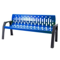Frost Steel 6 Feet Outdoor Bench Blue/Grey Finish