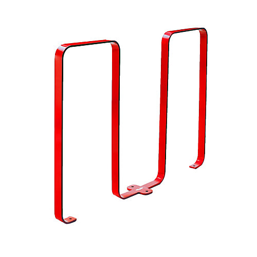 Steel Five Bike Rack Red Finish