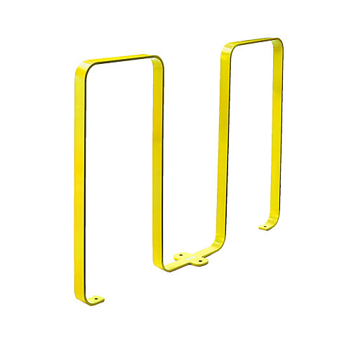 Steel Five Bike Rack Yellow Finish